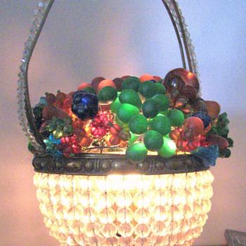 A Lighted Glass Fruit Bowl - Art Glass