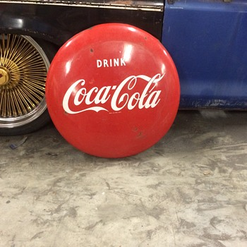 "24"" Coca Cola Button 1950's"