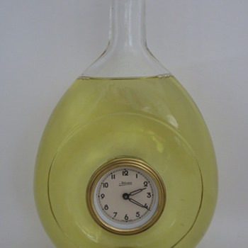 Clock in a Glass Bottle