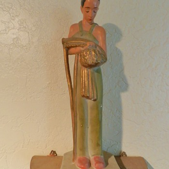 Art Deco Chalkware Sculpture