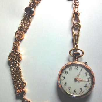 1900s Swiss Pocket Watch Silver/Vermeil (Silver plated with Pink Gold)