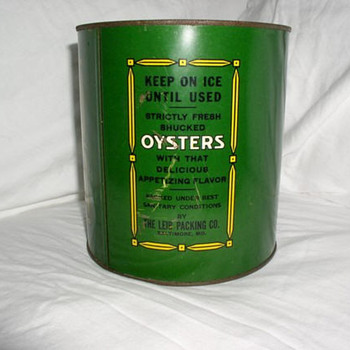 Sun Brand Oyster Can