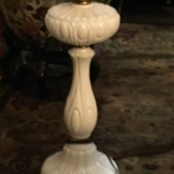 Milk glass Banquet lamp