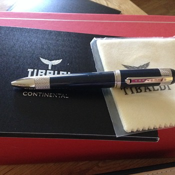 Tibaldi for Bentley Continental Dark Sapphire Ballpoint Pen