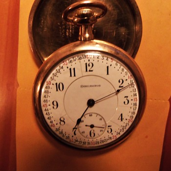 "1915 Illinois ""Burlington"" Railroad Pocket Watch"