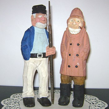 Wooden Fishermen - Figurines