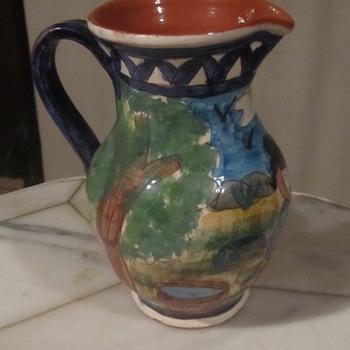 "Olaria António Janeiro, São Pedro do Corval"" Art Pottery Pitcher Portugal - Art Pottery"