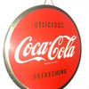 1940&#039;s Coca-Cola 9&quot; Round Celluloid Sign 