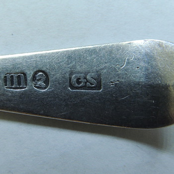 English Sterling Silver Teaspoon - George Smith IV, London 1787