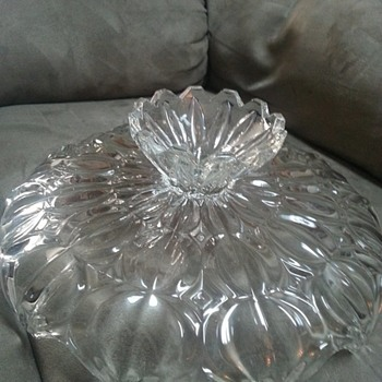 antique glass cake stand