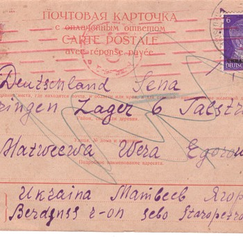 WWII world war 2 post cards german russian