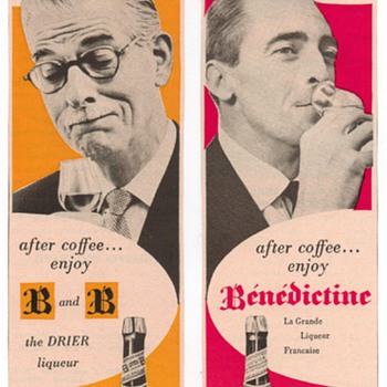 1954 Benedictine & Brandy Advertisements - Advertising