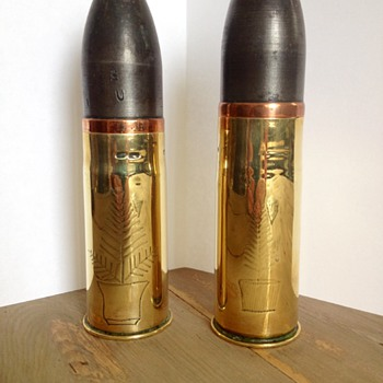 WW1 Shells 1915-1918, Trench Art - Military and Wartime
