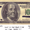 $100 bill printed with the paper backwards in the press