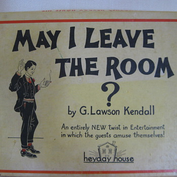 1935 May I Leave the Room Game HELP - Games