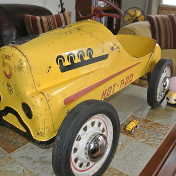 1950's Original Hot Rod Racer Pedal Car  - Toys
