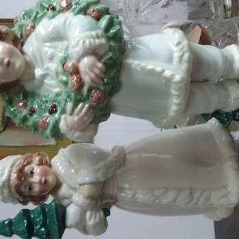 My favorite Porcelain hoilday boy and girl set