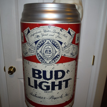 LARGE BUD LIGHT BEER CAN DISPLAY - Breweriana