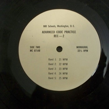 Vintage Album / Record:  NRI Schools, Washington, DC; Advanced Code Practice