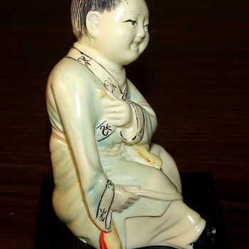 Seated Girl with a Recorder - Asian