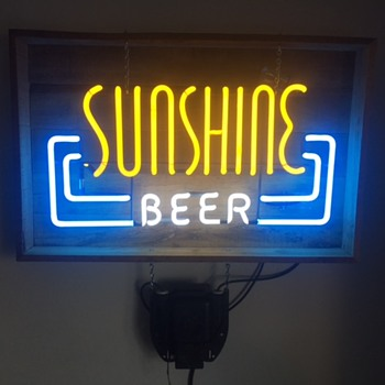 Sunshine Beer Neon Sign - Breweriana