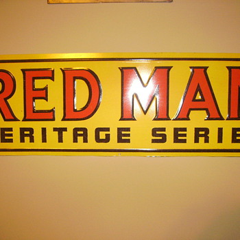 Red Man Haratage Series Sign