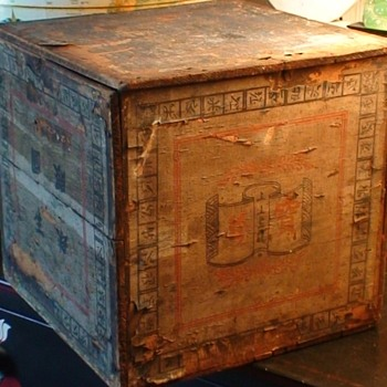 Vintage 1894 Tea Shipping Crate From China - Asian