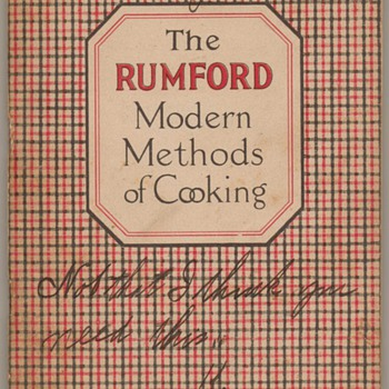 1922 - Rumford Modern Methods of Cooking - Books