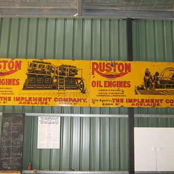 RUSTON OIL ENGINE SIGNS - Petroliana