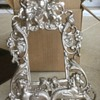 Brass picture frame.