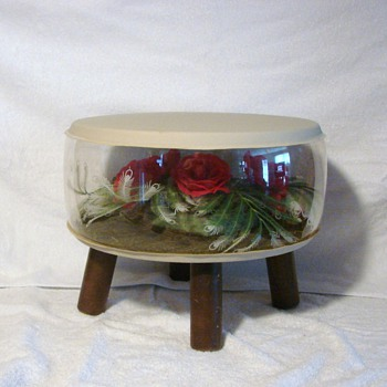 Vintage Inflatable Retro Terrarium Footstool