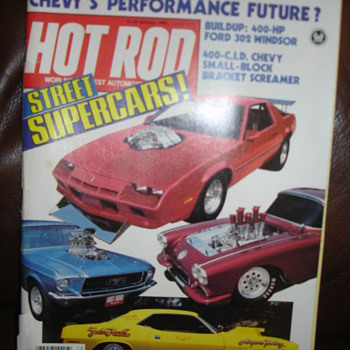 HOT ROD STREET SUPER CARS 1983 - Paper