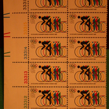 1972 XX Olympic Summer Games - Munich Stamps