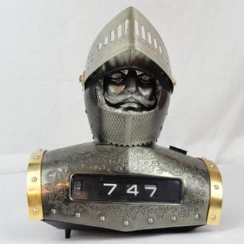 60s WACO Mid-Century MEDIEVAL KNIGHT Clock  - Clocks