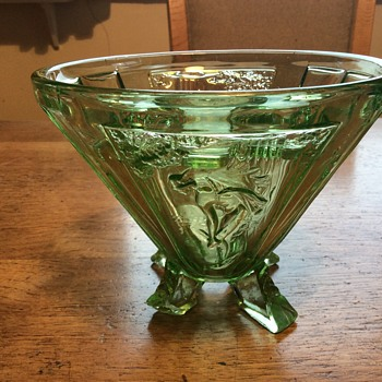 Sowerby Green Glass Mercury Vase