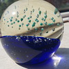 Bubble glass paperweight