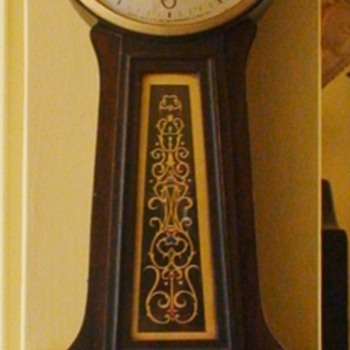 Waterbury Banjo Clock George Washington