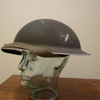British Army Film Photographic Unit steel helmet. WWII. - Military and Wartime