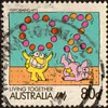 "1988 - Australia ""Living Together"" Postage Stamp"
