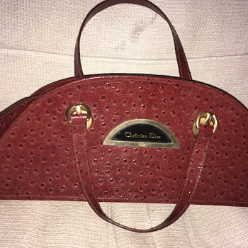Christian Dior Ostrich Leather Bag