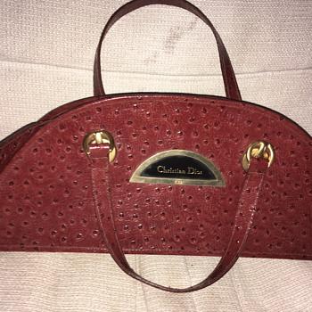 Christian Dior Ostrich Leather Bag