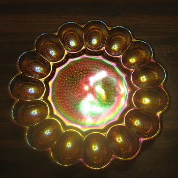 My carnival glass platter - Glassware