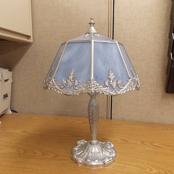 Elegant Slag Glass Lamp