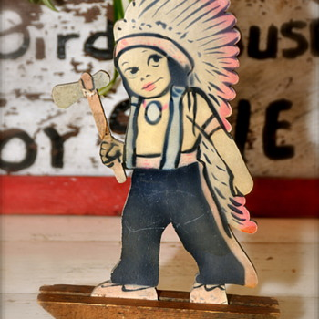 Pat 1916 Wooden Toy Indian rocker toy