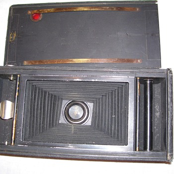 Foreign wood frame bellows camera