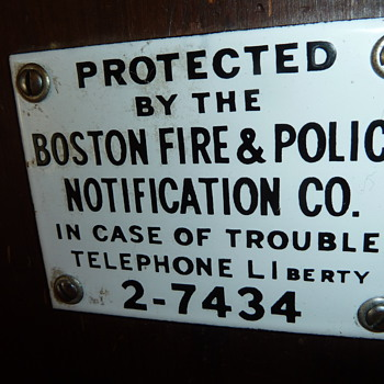 Protected by the Boston Fire & Police Notification Co. Box - Firefighting