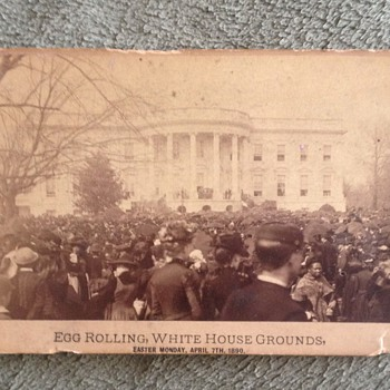 Egg Rolling White House Grounds Circa 1890 Photograph