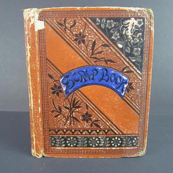 Antique Scrap Book w/ Cards