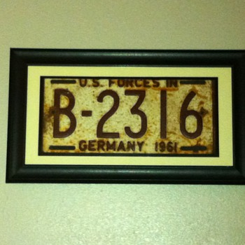 1961 us forces germany license plate - Signs