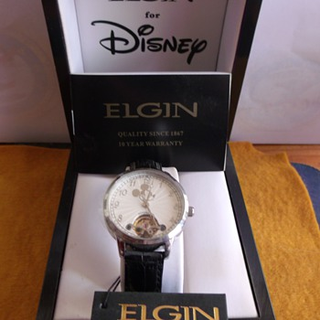 "Elgin Mickey Mouse ""Automatic"" Wrist Watch - Wristwatches"